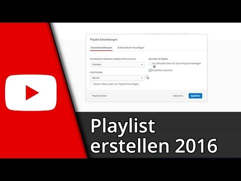 Youtube Tutorial | Playlist erstellen / löschen / 2016 [Deutsch/HD]