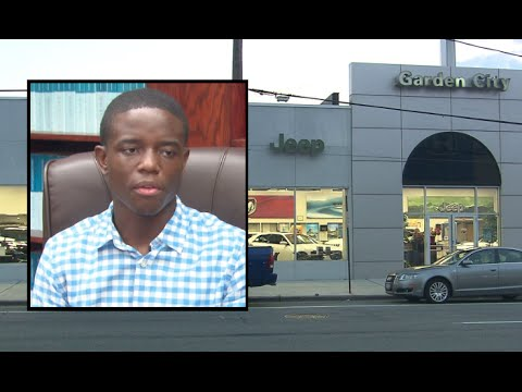 Legislator Bynoe Abrahams speak on Garden City Jeep Dealership