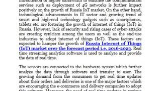 Russia Internet of Things IoT Market 2016 2023  Research Nester