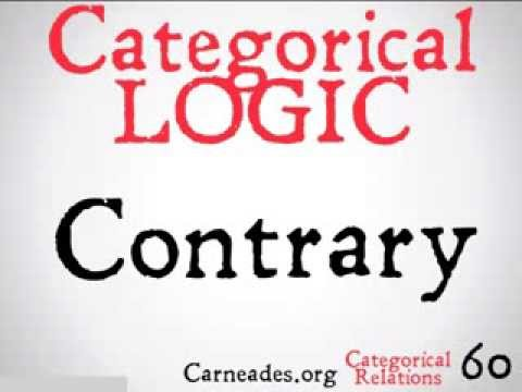Contrary (Categorical Logic)