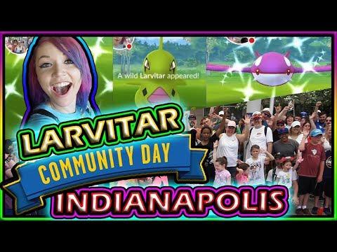LARVITAR COMMUNITY DAY INDY POKEMON GO! thumbnail