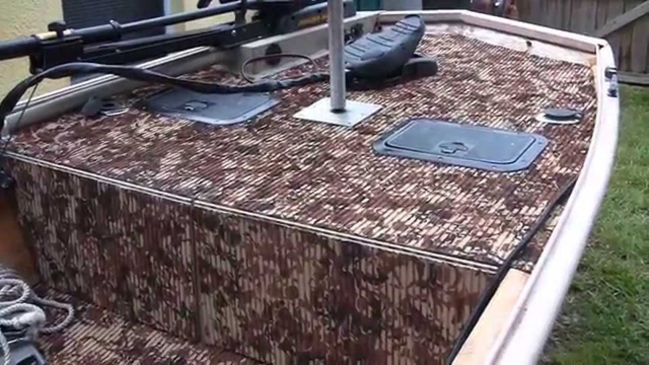 Hydroturf Installed In Duracraft Jon Boat   Gatortrax Pattern   YouTube