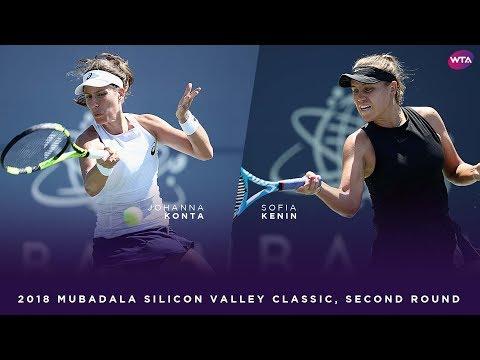 Johanna Konta vs. Sofia Kenin | 2018 Mubadala Silicon Valley Classic Second Round