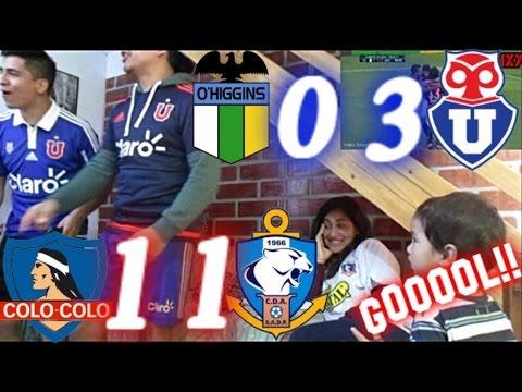 Reacción Ohiggins 0 vs U.De Chile 3 y Colo colo 1 vs Antofagasta 1 |14/05/2017