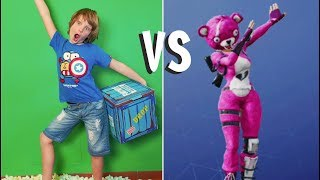 BALLI DI FORTNITE CHALLENGE! (Fortnite Stampers Dance in Real Life - Fortnite toys - Canale Nikita