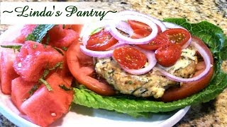 ~low Carb Feta & Fresh Herb Turkey Burger With Linda's Pantry!