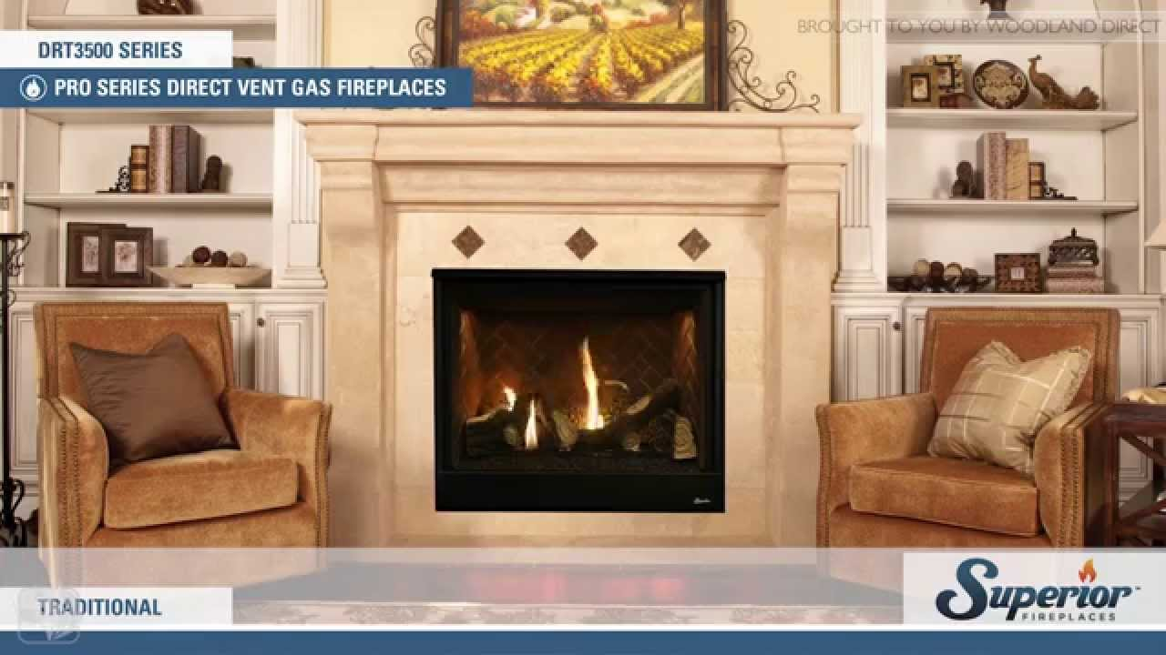 superior drt3500 direct vent gas fireplace youtube