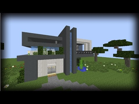 Tutorial de como hacer una casa moderna en minecraft 6 by for Casa moderna 10x10 minecraft