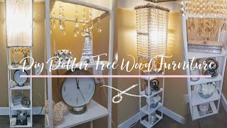 I made wooden furniture using Dollar Tree Materials - DIY Lamp-Shelf | DIY Home Decor | DIY Lamp