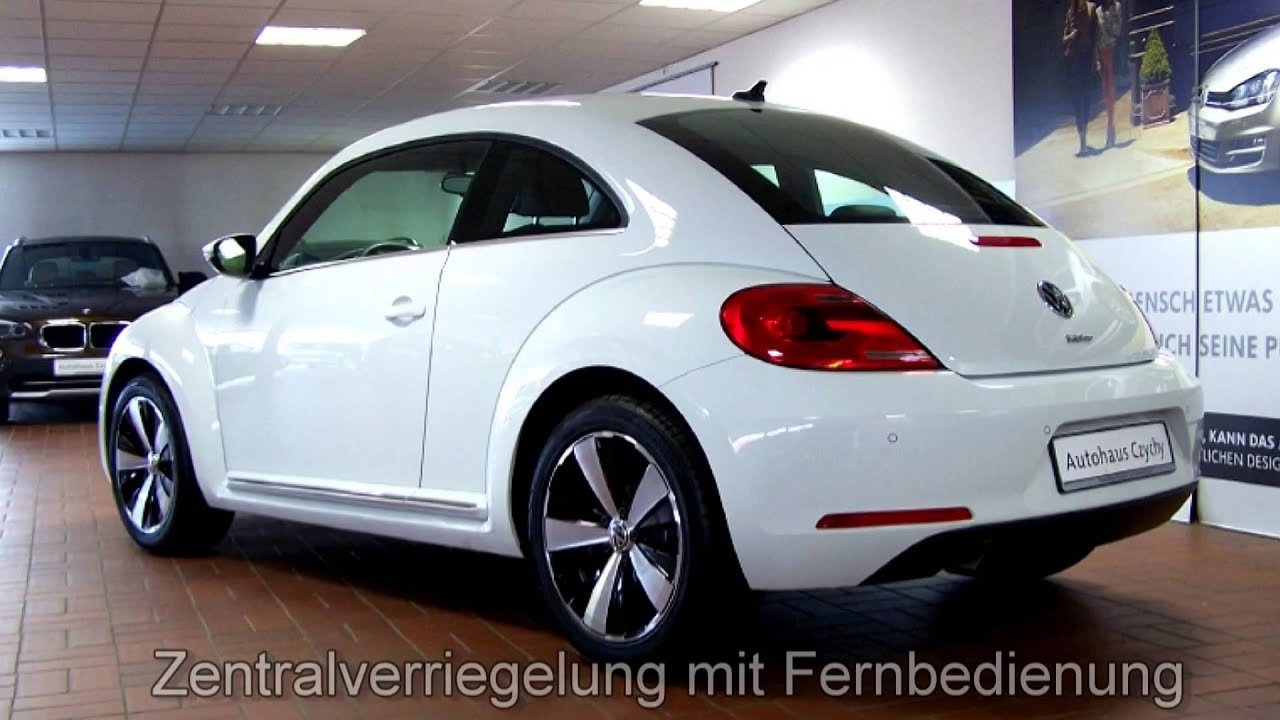volkswagen beetle 1 2 tsi exclusive design em647171 pure white autohaus czychy youtube. Black Bedroom Furniture Sets. Home Design Ideas