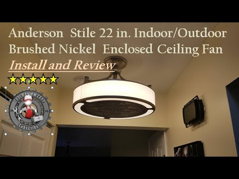 Stile Anderson 22 In Enclosed Ceiling Fan Install And