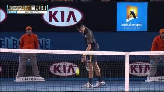 Australian Open 2013 R4 Djokovic vs Wawrinka Full match [HD]