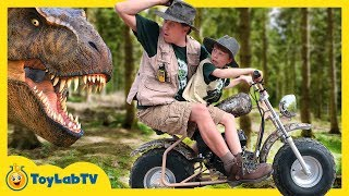 Giant Life Size T-Rex Dinosaur Adventure for Kids & New Jurassic World Fallen Kingdom Toys