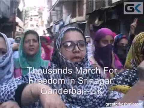 Thousands March For Freedom in Srinagar, Ganderbal