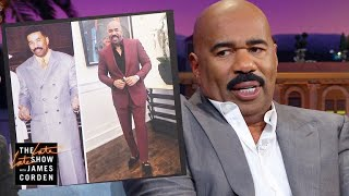 Steve Harvey Went Through a Major Suit Overhaul