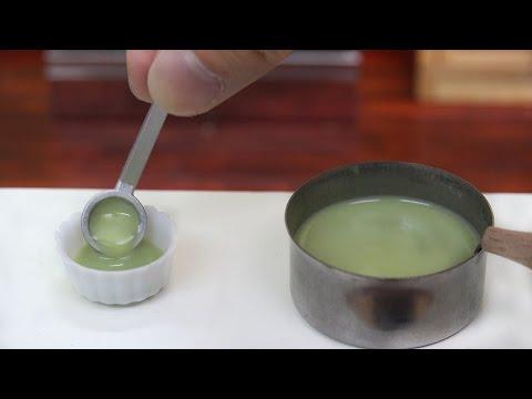 Minifood  Green Tea Pudding 食べれるミニチュア 抹茶プリン