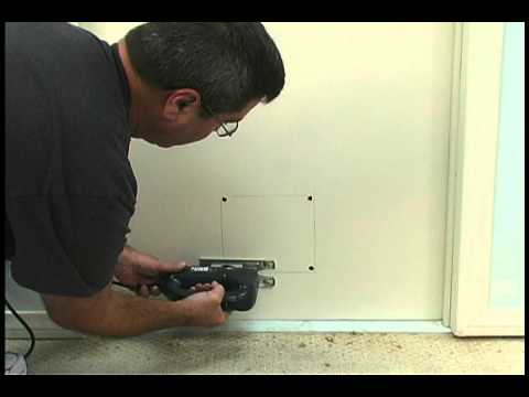 Installing The Cat Flap Pet Door By Ideal Pet Products