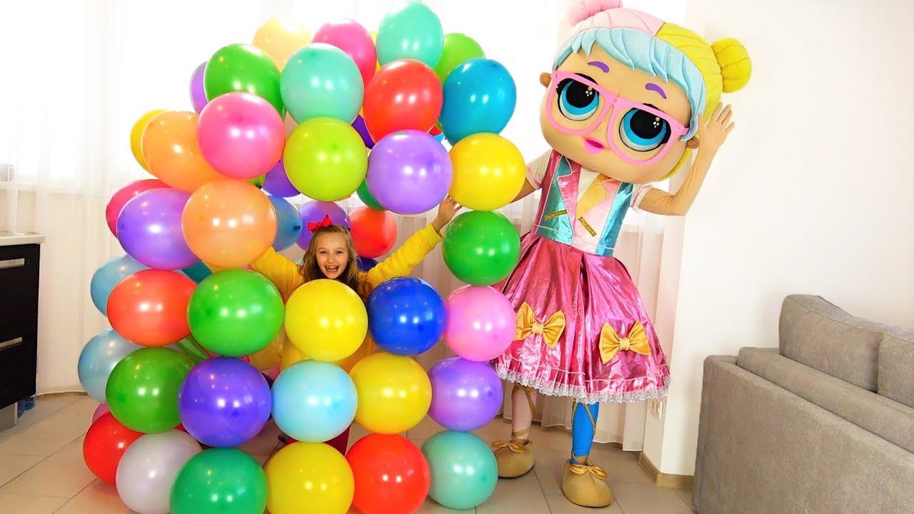 Полина и ее новый дом из шариков