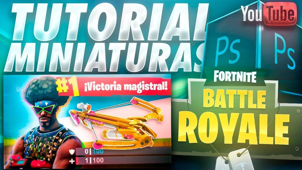 Como Hacer Miniaturas De Fortnite Battle Royale Para Youtube Tutorial Photoshop Aleo