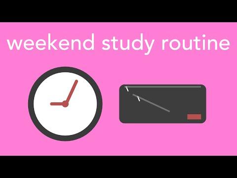 weekend study routine