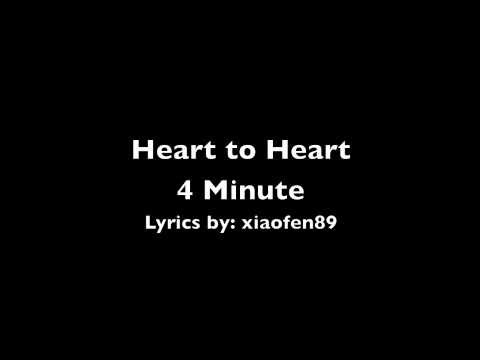 Heart to Heart lyrics - 4minute