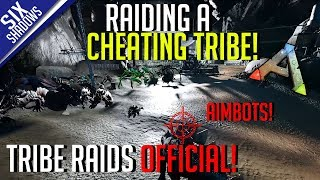 RAIDING A CHEATING TRIBE! | Tribe Raids Official PvP - Ark: Survival Evolved