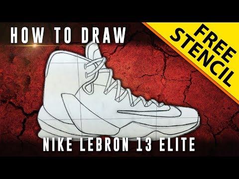 How To Draw: Nike Lebron 13 Elite