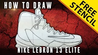 How To Draw: Nike Lebron 13 Elite