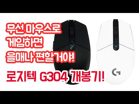 로지텍 G304 LIGHTSPEED WIRELESS 무선마우스 개봉기! 무선으로 게임하면 을매나 편할거야!
