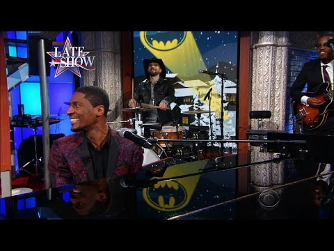 Jon Batiste Performs A Medley Of Batman Christmas Carols - YouTube