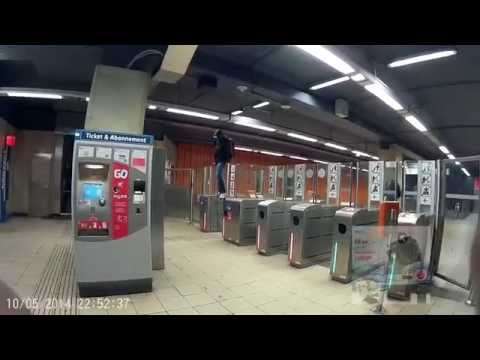 Brussels Metro No Ticket (Belgium) SJ4000 Action Sport Camera Full HD 1080p