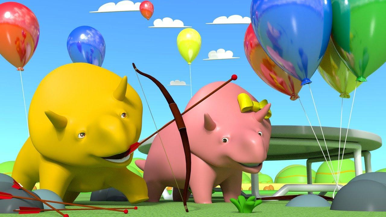 교육 카툰 -  게임 배우기 - 다이노와 다이나는 함께 경쟁 하고 있어요 공룡 Dino와 함께 배우기 | 어린이용 교육 카툰