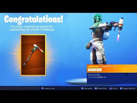 The New ZENITH PICKAXE in Fortnite..