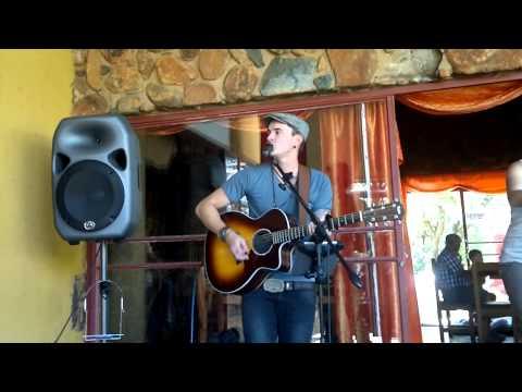 Stuart Reece performing his own song 'Broke Down Beat Down' sun08feb2015893