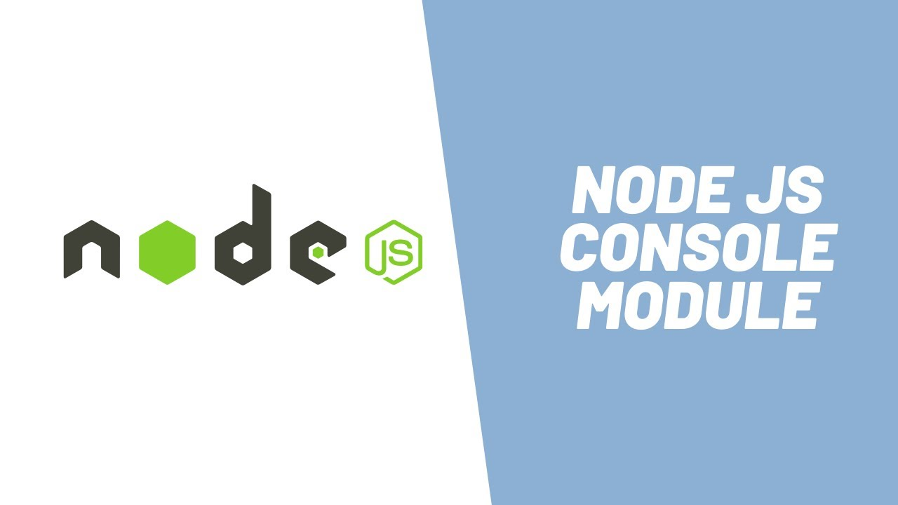 How to Use Node Console Module ( in 4 mins )