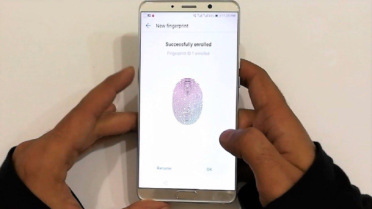 Huawei Mate 10 - How to Setup Fingerprint Scanner to Perform Multiple Tasks  - YouTube