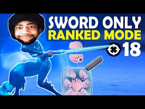 THIS IS WHY THE INFINTY BLADE GOT REMOVED! CHOPPING OFF TOES IN RANKED - (Fortnite Battle Royale)