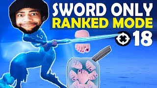 SWORD ONLY IN RANKED! | CHOPPING OFF TOES! | HIGH KILL FUNNY GAME - (Fortnite Battle Royale)