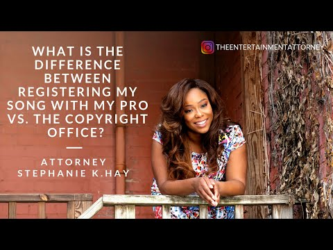 What is the Difference Between Registering My Song with My PRO vs. The Copyright Office? Mp3