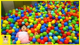 Indoor Playground Family Fun Play Area with cars for kids Compilation | MariAndKids Toys