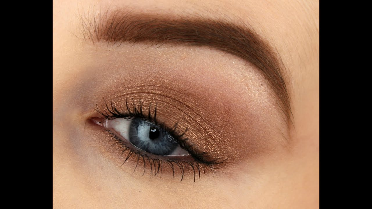 Beginners Makeup Using One Eyeshadow Youtube