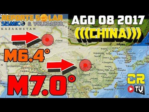 TERREMOTO M7.0 XICHUAN Y M6.4 XINJIANG CHINA  7 MUERTOS  (AGO 8 2017)