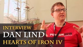 Interview with Dan Lind - Hearts of Iron 4 - Critics, Fuel, Ai, Plans etc. (PDXCON 2018 / English)