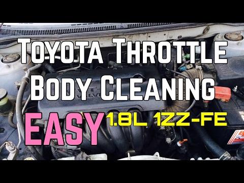 Toyota Corolla Throttle Body Cleaning Service Matrix 1.8L 4 Cylinder 1ZZ-FE 98 - 05 Bundys Garage
