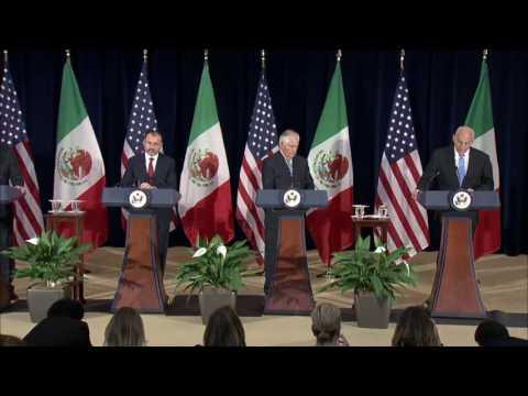 Secretary Tillerson and Secretary Kelly Press Availability with Mexican Foreign Secretary Videgaray
