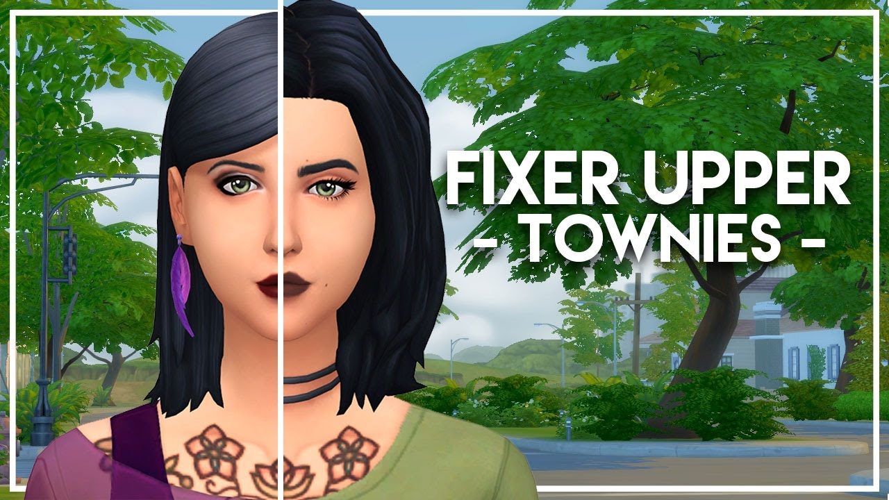 FIXING THE FREE SPIRITS // The Sims 4: Townie Makeovers
