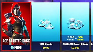 'GLITCH' THE ACE STARTER PACK FOR GRATUIT! DANS FORTNITE BATTLE ROYALE! (NOUVELLE PEAU GRATUITE)