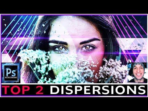 TOP 2 Photoshop Dispersion Effect Methods - Speed #Tutorial