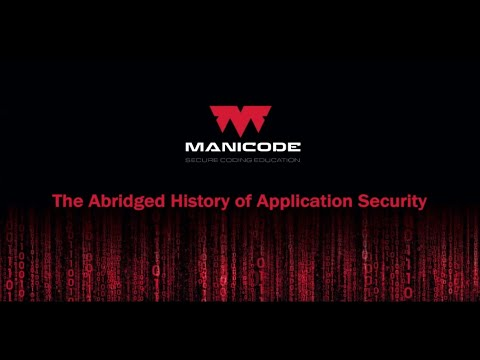 The Abridged History of Application Security