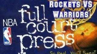 NBA Full Court Press (1996) - PC - Rockets vs Warriors - EVQNED